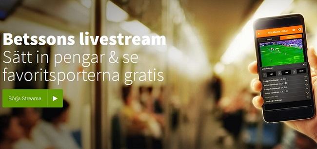 Betsson live stream 2018 - Förbättrad tjänst