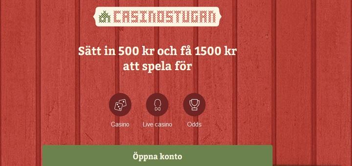 Casinostugan live stream och oddsbonus på 1000 kr