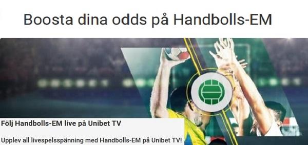 Free live stream Handbolls EM 2018