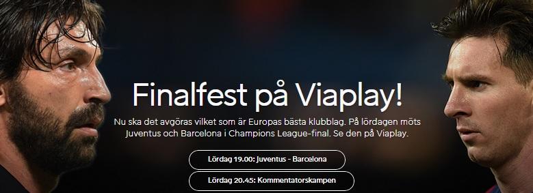 Live stream Juventus Barcelona 6 juni 2015 på Viaplay